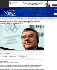 Sochi Games Russian activists urge IOC chief to: CTV